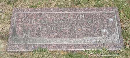 MATUSZEWSKI, JOZEF - Lucas County, Ohio | JOZEF MATUSZEWSKI - Ohio Gravestone Photos