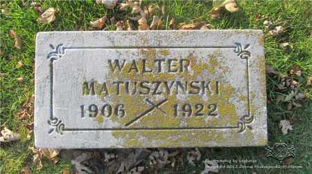 MATUSZYNSKI, WALTER - Lucas County, Ohio | WALTER MATUSZYNSKI - Ohio Gravestone Photos