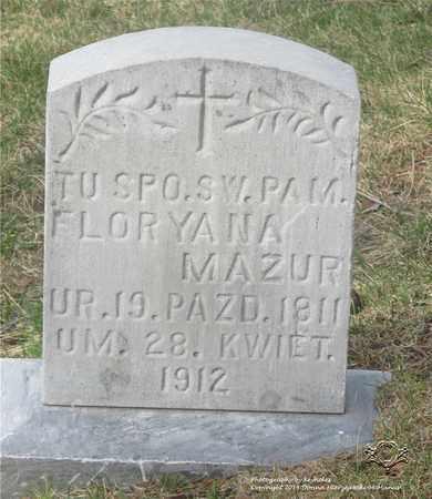 MAZUR, FLORYANA - Lucas County, Ohio | FLORYANA MAZUR - Ohio Gravestone Photos