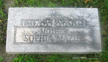 MAZUR, SOPHIA - Lucas County, Ohio | SOPHIA MAZUR - Ohio Gravestone Photos