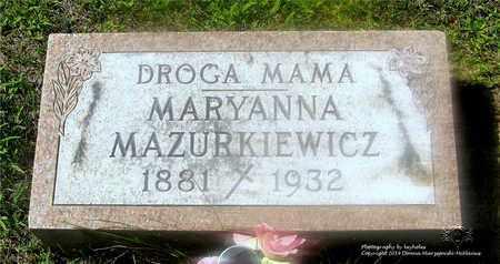 MAZURKIEWICZ, MARYANNA - Lucas County, Ohio | MARYANNA MAZURKIEWICZ - Ohio Gravestone Photos