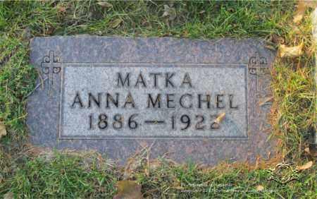 MECHEL, ANNA - Lucas County, Ohio | ANNA MECHEL - Ohio Gravestone Photos