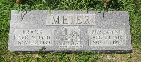MEIER, FRANK - Lucas County, Ohio | FRANK MEIER - Ohio Gravestone Photos