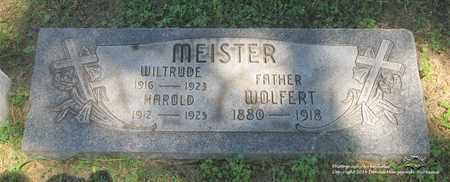 MEISTER, WOLFERT - Lucas County, Ohio | WOLFERT MEISTER - Ohio Gravestone Photos
