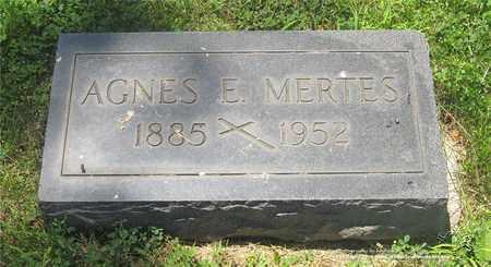 MERTES, AGNES E. - Lucas County, Ohio | AGNES E. MERTES - Ohio Gravestone Photos