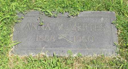 MERTES, ANNA M. - Lucas County, Ohio | ANNA M. MERTES - Ohio Gravestone Photos