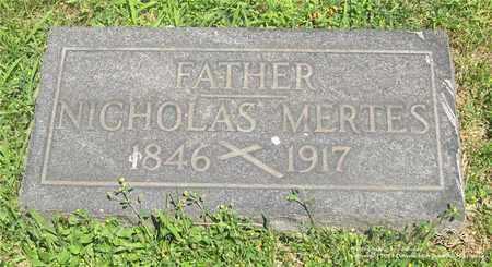 MERTES, NICHOLAS - Lucas County, Ohio | NICHOLAS MERTES - Ohio Gravestone Photos
