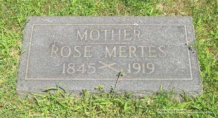 MERTES, ROSE - Lucas County, Ohio | ROSE MERTES - Ohio Gravestone Photos
