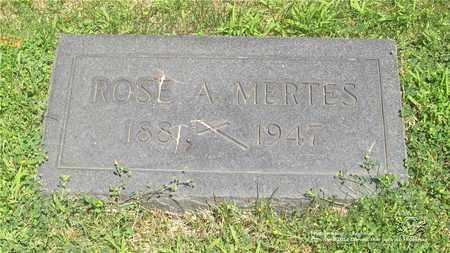 MERTES, ROSE A. - Lucas County, Ohio | ROSE A. MERTES - Ohio Gravestone Photos