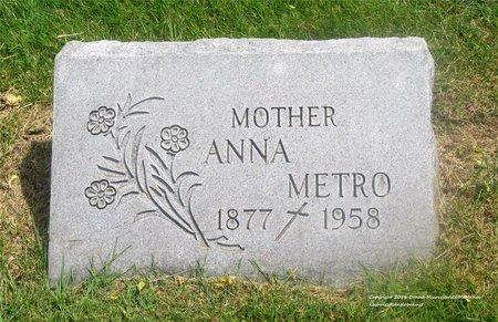 METRO, ANNA - Lucas County, Ohio | ANNA METRO - Ohio Gravestone Photos