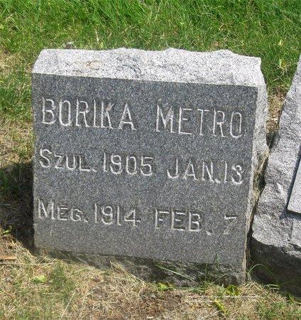 METRO, BORIKA - Lucas County, Ohio | BORIKA METRO - Ohio Gravestone Photos