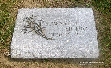 METRO, EDWARD J. - Lucas County, Ohio | EDWARD J. METRO - Ohio Gravestone Photos