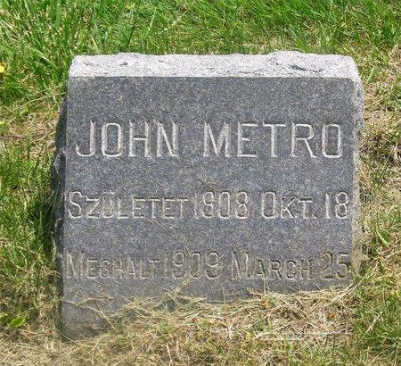 METRO, JOHN - Lucas County, Ohio | JOHN METRO - Ohio Gravestone Photos