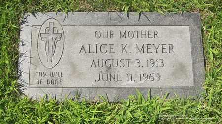 MEYER, ALICE K. - Lucas County, Ohio | ALICE K. MEYER - Ohio Gravestone Photos