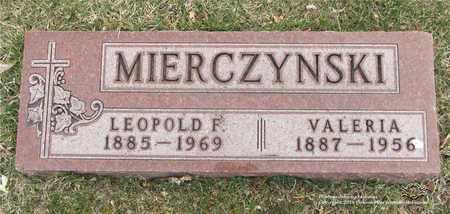 MIERCZYNSKI, LEOPOLD F. - Lucas County, Ohio | LEOPOLD F. MIERCZYNSKI - Ohio Gravestone Photos