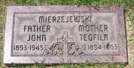 KLIMKIEWICZ MIERZEJEWSKI, THEOFILA - Lucas County, Ohio | THEOFILA KLIMKIEWICZ MIERZEJEWSKI - Ohio Gravestone Photos