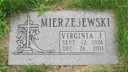 MIERZEJEWSKI, VIRGINIA J. - Lucas County, Ohio | VIRGINIA J. MIERZEJEWSKI - Ohio Gravestone Photos