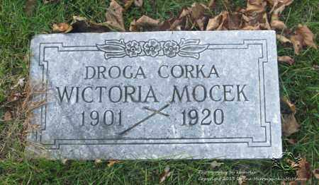 MOCEK, WICTORIA - Lucas County, Ohio | WICTORIA MOCEK - Ohio Gravestone Photos