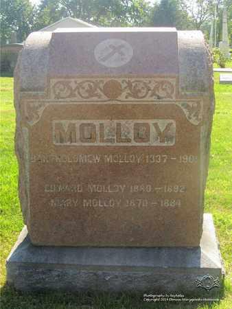 MOLLOY, BARTHOLOMEW - Lucas County, Ohio | BARTHOLOMEW MOLLOY - Ohio Gravestone Photos