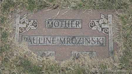 MILLER MROZINSKI, PAULINE - Lucas County, Ohio | PAULINE MILLER MROZINSKI - Ohio Gravestone Photos
