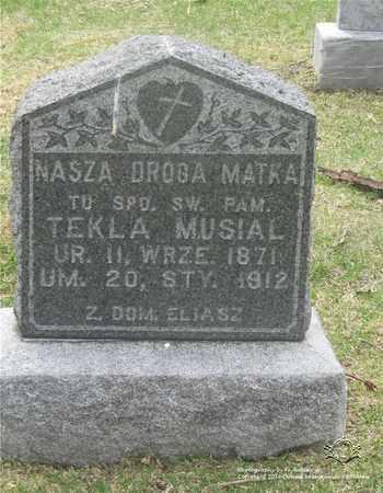 ELIASZ MUSIAL, TEKLA - Lucas County, Ohio | TEKLA ELIASZ MUSIAL - Ohio Gravestone Photos