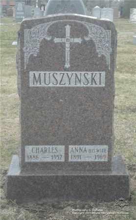 MUSZYNSKI, CHARLES - Lucas County, Ohio | CHARLES MUSZYNSKI - Ohio Gravestone Photos