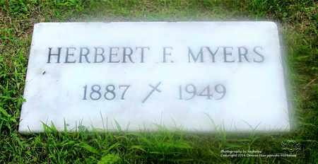 MYERS, HERBERT F. - Lucas County, Ohio | HERBERT F. MYERS - Ohio Gravestone Photos