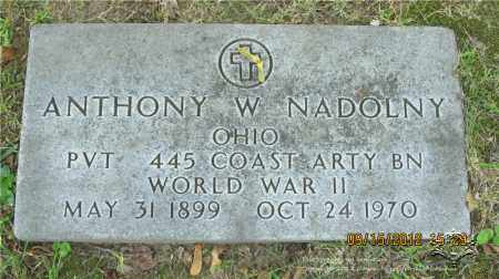 NADOLNY, ANTHONY W. - Lucas County, Ohio | ANTHONY W. NADOLNY - Ohio Gravestone Photos
