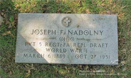 NADOLNY, JOSEPH F. - Lucas County, Ohio | JOSEPH F. NADOLNY - Ohio Gravestone Photos
