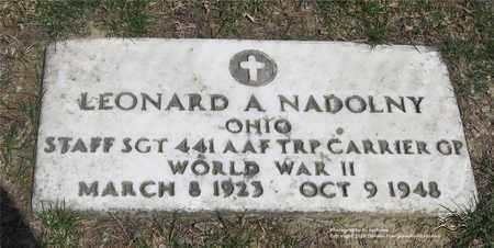 NADOLNY, LEONARD A. - Lucas County, Ohio | LEONARD A. NADOLNY - Ohio Gravestone Photos