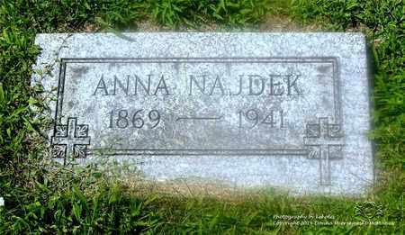 KACZOROWSKI NAJDEK, ANNA - Lucas County, Ohio | ANNA KACZOROWSKI NAJDEK - Ohio Gravestone Photos