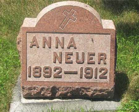 NEUER, ANNA - Lucas County, Ohio | ANNA NEUER - Ohio Gravestone Photos