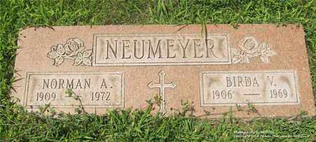NEUMEYER, BIRDA V. - Lucas County, Ohio | BIRDA V. NEUMEYER - Ohio Gravestone Photos
