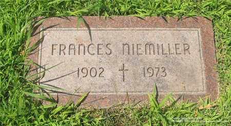 NIEMILLER, FRANCES - Lucas County, Ohio | FRANCES NIEMILLER - Ohio Gravestone Photos