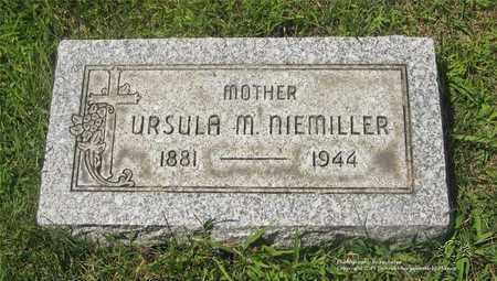 NIEMILLER, URSULA M. - Lucas County, Ohio | URSULA M. NIEMILLER - Ohio Gravestone Photos
