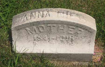 NIESS, ANNA - Lucas County, Ohio | ANNA NIESS - Ohio Gravestone Photos