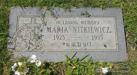 NITKIEWICZ, MARIA - Lucas County, Ohio | MARIA NITKIEWICZ - Ohio Gravestone Photos