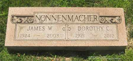 NONNENMACHER, JAMES W. - Lucas County, Ohio | JAMES W. NONNENMACHER - Ohio Gravestone Photos