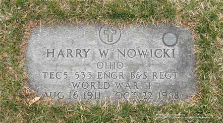 NOWICKI, HARRY W. - Lucas County, Ohio | HARRY W. NOWICKI - Ohio Gravestone Photos