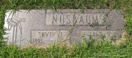 NUSBAUM, ERVIN J. - Lucas County, Ohio | ERVIN J. NUSBAUM - Ohio Gravestone Photos