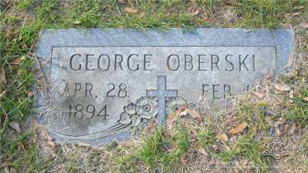 OBERSKI, GEORGE - Lucas County, Ohio | GEORGE OBERSKI - Ohio Gravestone Photos