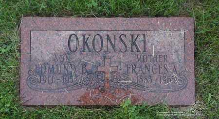 OKONSKI, FRANCES A. - Lucas County, Ohio | FRANCES A. OKONSKI - Ohio Gravestone Photos