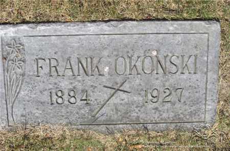 OKONSKI, FRANK - Lucas County, Ohio | FRANK OKONSKI - Ohio Gravestone Photos