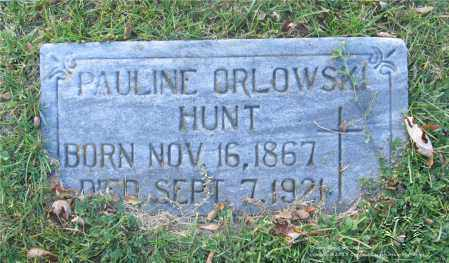 ORLOWSKI HUNT, PAULINE - Lucas County, Ohio | PAULINE ORLOWSKI HUNT - Ohio Gravestone Photos