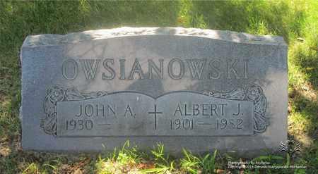OWSIANOWSKI, ALBERT J. - Lucas County, Ohio | ALBERT J. OWSIANOWSKI - Ohio Gravestone Photos