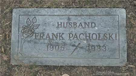 PACHOLSKI, FRANK - Lucas County, Ohio | FRANK PACHOLSKI - Ohio Gravestone Photos