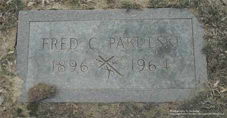 PAKULSKI, FRED C. - Lucas County, Ohio | FRED C. PAKULSKI - Ohio Gravestone Photos