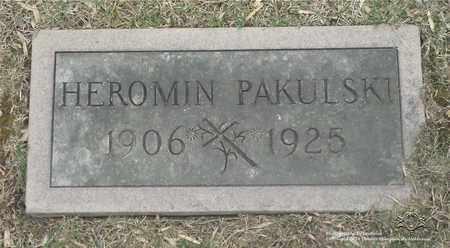 PAKULSKI, HEROMIN - Lucas County, Ohio | HEROMIN PAKULSKI - Ohio Gravestone Photos