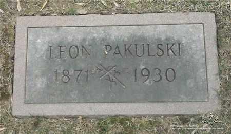 PAKULSKI, LEON - Lucas County, Ohio | LEON PAKULSKI - Ohio Gravestone Photos