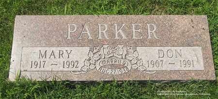 PARKER, DON - Lucas County, Ohio | DON PARKER - Ohio Gravestone Photos